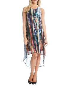 Karen Kane Patterned Illusion Dress Women's Print X-Small