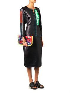Holographic-print Lurex dress