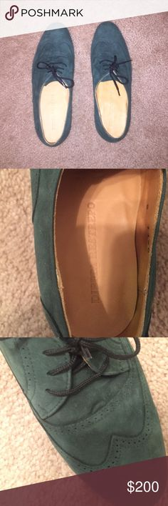 NEW Dieppa Restrepo Cali Oxford in green suede Brand new, never worn! Unfortunately I do not have the original box. Gorgeous detailing on supple suede. These are hard to find. Listed for exposure. NO TRADES!! Madewell Shoes Flats & Loafers