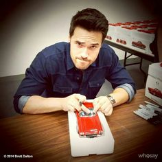 Touching Lola!    Brett Dalton    Instagram    736px × 736px    #cast #humor