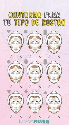 contour makeup – Hair and beauty tips, tricks and tutorials Makeup Tips Contouring, Makeup Guide, Contour Makeup, Skin Makeup, Makeup Brushes, Beauty Makeup, Face Contouring, Makeup Tricks, Makeup Inspo