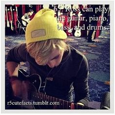R5 Cute Facts nad e is learning to play the mandalin and violin