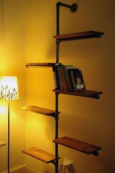 Awesome bookshelf idea! Some cute bookends would bring it all together