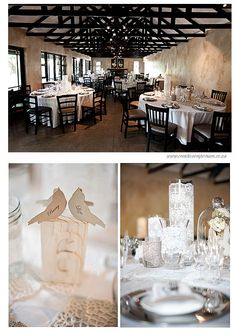 love the lace wrapped around the vases and jars - would be GORGEOUS with votives flickering in them