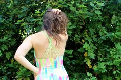 Cross back swimsuits are so pretty yet you can actually swim in them on holiday too!