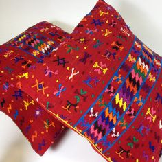 Chiapas Embroidered Flower Pillows