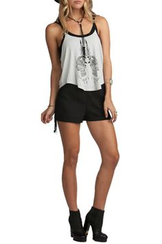 Super soft Super cool! This tank is a must have for summer it features henna style print attached inside crop and aracerback.  Double Vision Tank Clothing - Tops - Tees & Tanks Dallas Texas