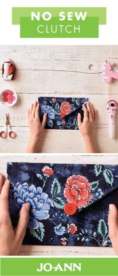 Summer style is all about the vivid colors and trending patterns. Get ready to accessorize your new seasonal outfit with this No Sew Clutch from Jo-Ann. We love the idea of using a bold floral fabric!