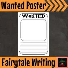 Wanted Poster {Fairytale Writing} Fairy Tale Activities, Phonics Activities, Writing Activities, Writing Ideas, Writing Prompts, Library Lesson Plans, Library Lessons, Free Teaching Resources, Teaching Ideas