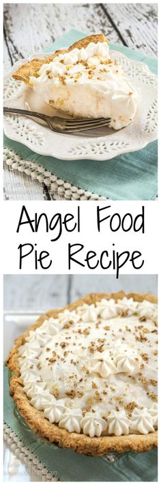 Angel Food Pie Recipe Angel Food Pie tastes like a pineapple cloud. It's creamy delicious and just melts in your mouth. The delicate pineapple flavor is like a warm sunny day. Tart Recipes, Best Dessert Recipes, Cookie Recipes, Pastry Recipes, Amazing Recipes, Cheesecake Recipes, Köstliche Desserts, Delicious Desserts, Brownies