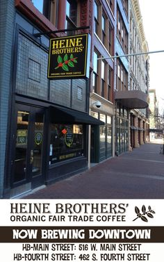 Heine Brothers' Organic Fair Trade Coffee - BEST COFFEE in Louisville!! Seriously cannot describe how much I love this place!!