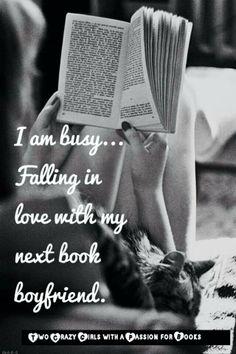 Falling in love with book boyfriend...