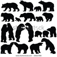 brown bear cub outline clipart - Google Search