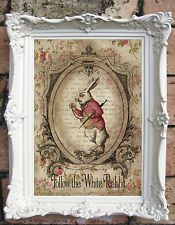 Alice in Wonderland Shabby Decor Art Quote Print Shabby chic Alice in Wonderland