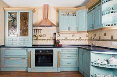 Cucina classica Monica - finitura azzurra, Arrex Le Cucine ...