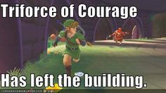 Triforce of Courage. Haha for real, those bokoblins are creepy. I can't stand the spirit realms!