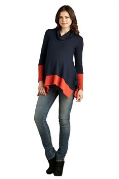 Maternal America Layered Loose Fit Maternity Sweater | Maternity Clothes  www.duematernity.com