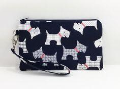 Scottish Terrier Wristlet Purse Cell Phone Wristlet by ZestyNotion