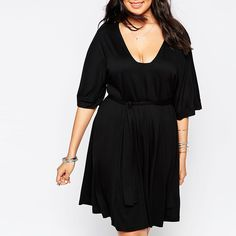 $$$ This is great forPlus Size Sexy Deep V-Neck Women's Fashion Dress Loose Breathable Robe Belted Knee-Length Black Color Half Sleeves ClothingPlus Size Sexy Deep V-Neck Women's Fashion Dress Loose Breathable Robe Belted Knee-Length Black Color Half Sleeves ClothingThe majority of the consumer revi...Cleck Hot Deals >>> http://id098214756.cloudns.pointto.us/32748698665.html images