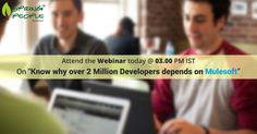 """Don't miss today's free #webinar! It's not too late to register for today's webinar, """"why over 2 million #developers depend on @Mulesoft  #AnypointPlatform?"""" @ 3 PM IST: http://www.springpeople.com/webinars/know-why-over-2-million-developers-depends-on-mulesoft?utm_source=Pinterest&utm_medium=Social&utm_campaign=Brand_PI_WB_MuleSoft_050716"""