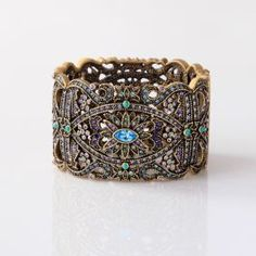"""""""Romance in Artistry"""" Crystal Accented Bangle Bracelet"""