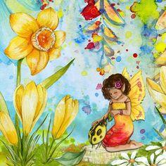 elfje met bloemen