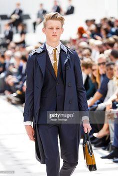 A model walks the runway at the Burberry Prorsum show during The London Collections Men SS16 at Kensington Gardens on June 15, 2015 in London, England. #OleStirnberg, #Malemodel, #elitemodel, #eliteboysdoitbetter, #Ole #Stirnberg