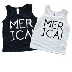 Merica Kids Tee, 4th of July shirt, #merica, Flag shirt, onesies, Trendy kids clothes, child shirt, Graphic Tee, Flag Tank, toddler shirt