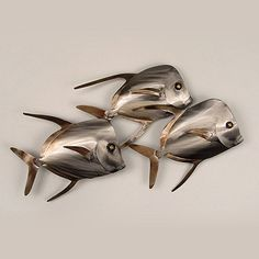 Lookdown Fish Trio Wall Art -...   $95.00