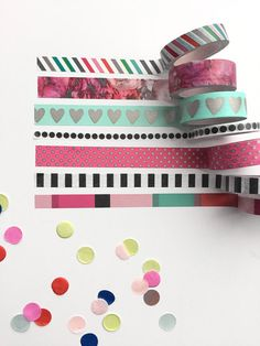 Washi tape assortments make it easy to decorate your Happy Planner™ or any other project you might be working on. Every project can use some cute washi tape…especially The Happy Planner™! Each tube in Washi Tape Crafts, Washi Tape Set, Paper Crafts, Masking Tape, Deco Tape, Create 365 Happy Planner, Bujo Inspiration, Washi Tape Planner, Decorative Tape