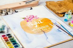 Watercolor Paint Mock Up - Product Mockups - 1