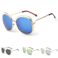 3,76 € - Gold frame & multiple colour lens sunglasses