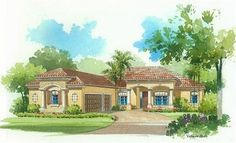 Napoli Elevation 'A' - Lennar Homes Treviso Bay Naples FL