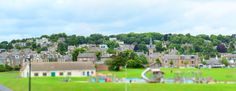 Tilt shift image of the playground at Broughty Ferry.
