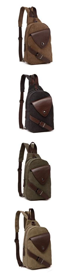 06f19bb9c7bb Classic Canvas Unbalance Pack Crossbody Bag Shoulder Bag Chest Bag for Men  Bagail.com Backpack