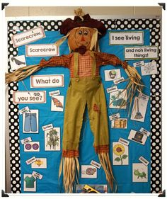 Fall lesson vocabulary building and STEM learning living and non-living things