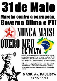 Eles não desistem! Novamente vão pedir INTERVENÇÃO MILITAR, nesse sábado (31/05/2014) em vários locais do BRASIL. | Disso Voce Sabia?