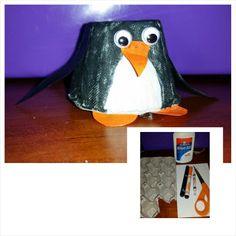 Egg carton penguin #diy