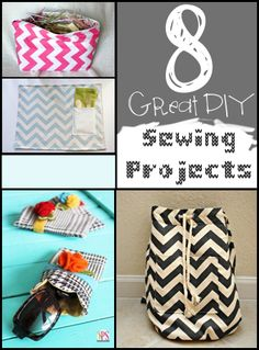 Think sewing is just for you grandmother? Think again! Personalize your stuff by creating it yourself! Get inspired with these DIY tutorials: 1. Adorable Chevron Backpack from Trash to Couture 2. Z...