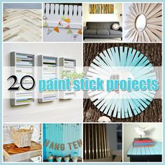 The Cottage Market: 20 Paint Stick DIY Projects and they are AWESOME (I like the picture frame and some of the others)