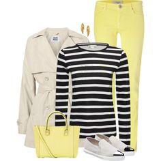Stripe Shirt Yellow Pants