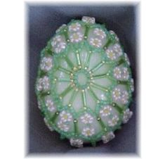 Many Flowers Beaded Egg Beading Pattern at Sova-Enterprises.com