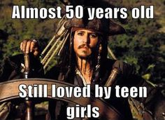 Well duh... It's fucking Johnny Depp. And he is 50 years old now!