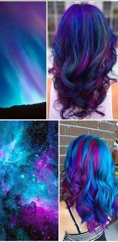 Super Ideas For Hair Color Crazy Mermaid Blue - hair - Hair Color Cute Hair Colors, Beautiful Hair Color, Hair Dye Colors, Cool Hair Color, Wild Hair Colors, Galaxy Hair Color, Hair Color Purple, Twisted Hair, Dye My Hair