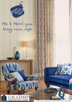 Create your own style, mix and match colors, prints and textures. #home #decor #color #cushions #beautiful #texture #pattern #color  #CalCoastFinancialCorp