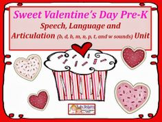Twin Sisters Speech & Language Therapy LLC: 50% off next 24 hours-Our Two New Units! Verbal Apraxia and Pre-K Valentine's Day