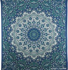 indian wall hanging blue green