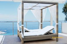 sun lounger with canopy - Google Search
