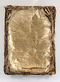 Gold Leaf on Canvas - Eric Baudart, Concave, 2013 Concave, Sculpture Textile, Image Deco, Feuille D'or, Shades Of Gold, Stay Gold, Touch Of Gold, Magazine Art, Abstract Art