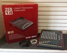 Allen & Heath ZED-14 DJ Mixer (Model AN682) With Original Box and Cables SOLD! Was available at Gadgets and Gold in Gainesville, FL!